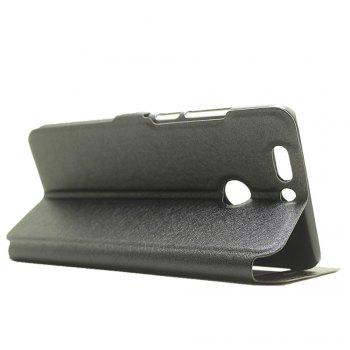Cover Case for Huawei Honor V9 Slik Pattern Double Open Window Leather - BLACK
