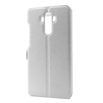 Cover Case for Huawei Mate 9 Slik Pattern Double Open Window Leather - WHITE