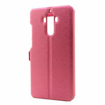 Cover Case for Huawei Mate 9 Slik Pattern Double Open Window Leather - ROSE RED