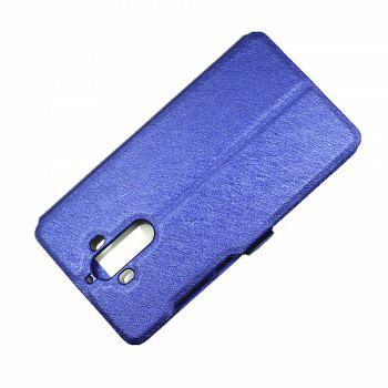 Cover Case for Huawei Mate 9 Slik Pattern Double Open Window Leather - BLUE