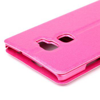 Cover Case for Huawei Mate S Slik Pattern Double Open Window Leather - ROSE RED