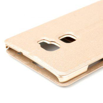 Cover Case for Huawei Mate S Slik Pattern Double Open Window Leather - GOLDEN