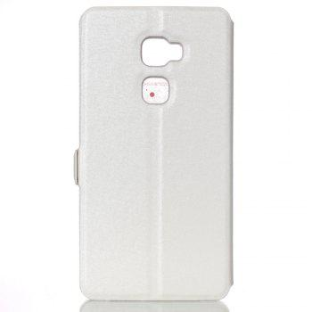 Cover Case for Huawei Mate S Slik Pattern Double Open Window Leather - WHITE