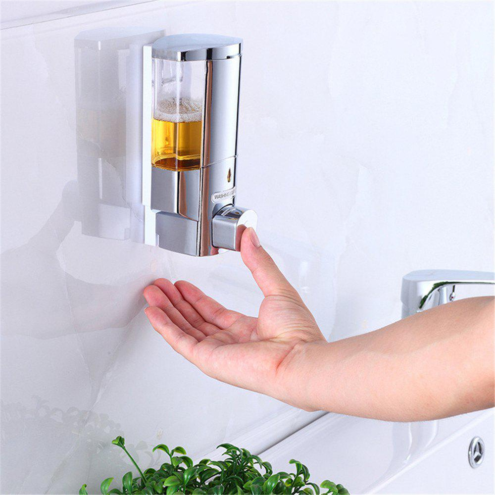 Shampoo Shower Soap Dispenser 300ML Wall-Mount Automatic Kitchen Soap Lotion Pump for Kitchen Bathroom - TRANSPARENT