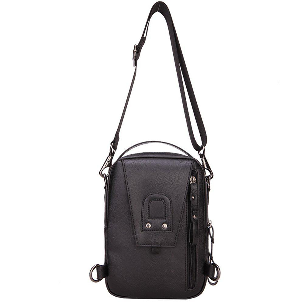 Multi-Functional Men'S Chest Bag Handbag Shoulder Bag - BLACK