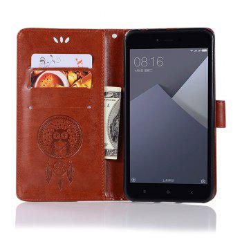 Owl Campanula Fashion Wallet Cover For Xiaomi Redmi Note 5A  Phone Bag With Stand PU Extravagant Retro Flip Leather Case - BROWN
