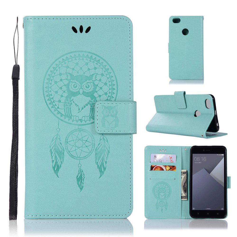 Owl Campanula Fashion Wallet Cover For Xiaomi Redmi Note 5A  Phone Bag With Stand PU Extravagant Retro Flip Leather Case - GREEN