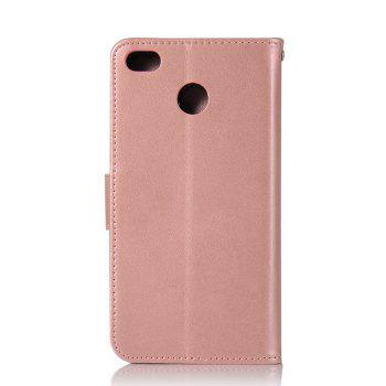 Owl Campanula Fashion Wallet Cover For Xiaomi Redmi 4X Phone Bag With Stand PU Extravagant Retro Flip Leather Case - ROSE GOLD