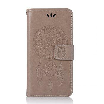 Owl Campanula Fashion Wallet Cover For Xiaomi Redmi 4X Phone Bag With Stand PU Extravagant Retro Flip Leather Case - GRAY
