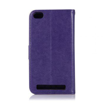 Owl Campanula Fashion Wallet Cover For Xiaomi Redmi 5A Phone Bag With Stand PU Extravagant Retro Flip Leather Case - PURPLE