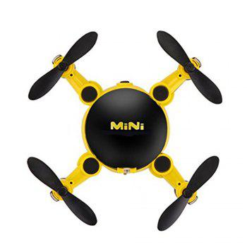 Mini Foldable RC Quadcopter Drone with Camera / 6 Axis Gyro / 360 Degree Roll - YELLOW
