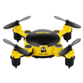 Mini Foldable RC Quadcopter Drone with Camera / 6 Axis Gyro / 360 Degree Roll - YELLOW YELLOW