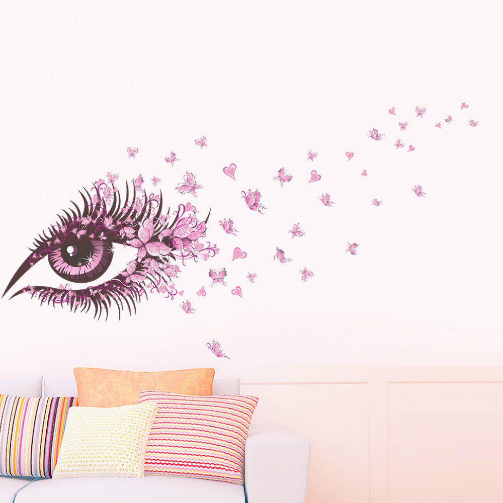 Pink Eye Butterfly Wall Sticker Living Room Mural Decal wall stickers removable art vinyl quote diy kid height wall sticker decal mural home room decor 350039