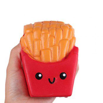 Slow Rising Squishies Jumbo French Fries Scented Squeeze Easter Stress Relief Toy -  RED