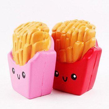 Slow Rising Squishies Jumbo French Fries Scented Squeeze Easter Stress Relief Toy -  PINK