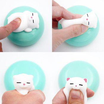 Kawaii Cute Mini Cat Slow Rising Soft Squishy Stress Reliever Decompression Toy for Kids Fidget Toy Gift 4PCS - COLORMIX