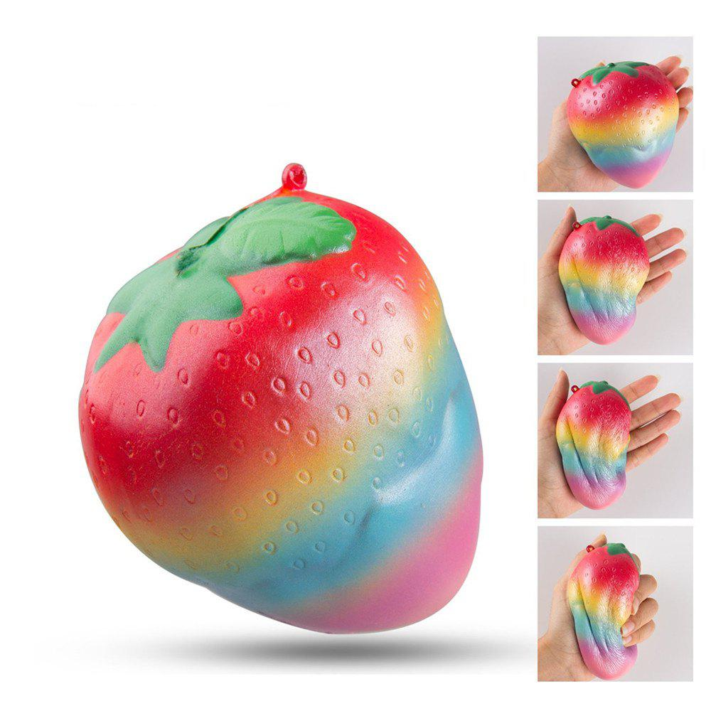 Colorful Slow Rising Toy Rainbow Strawberry Squishy Cream Scented Bread Decompression Squeeze Toys - COLOUR