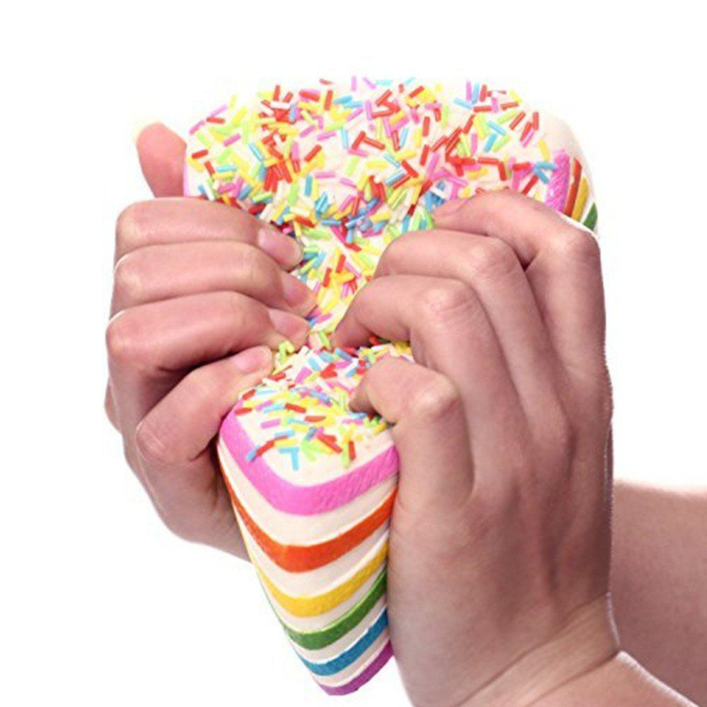 Colorful Squishy Colossal Triangle Cake Sugar Cream Super Squishies Slow Rising Scented Bread Squeeze Toy Gift - COLOUR
