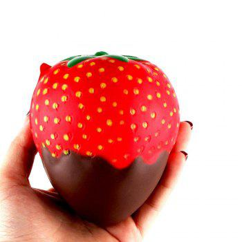 New Squeeze Stretch Squishy Strawberry Fruit Scented Slow Rising Gift Toy for Kids - BROWNIE BROWNIE