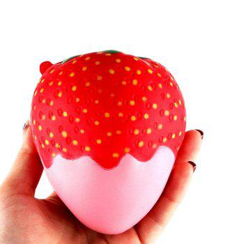 New Squeeze Stretch Squishy Strawberry Fruit Scented Slow Rising Gift Toy for Kids - PINK PINK
