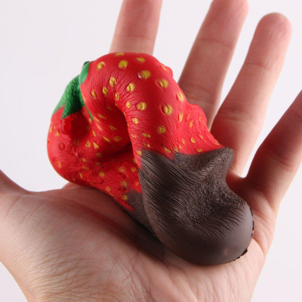 New Squeeze Stretch Squishy Strawberry Fruit Scented Slow Rising Gift Toy for Kids - BROWNIE