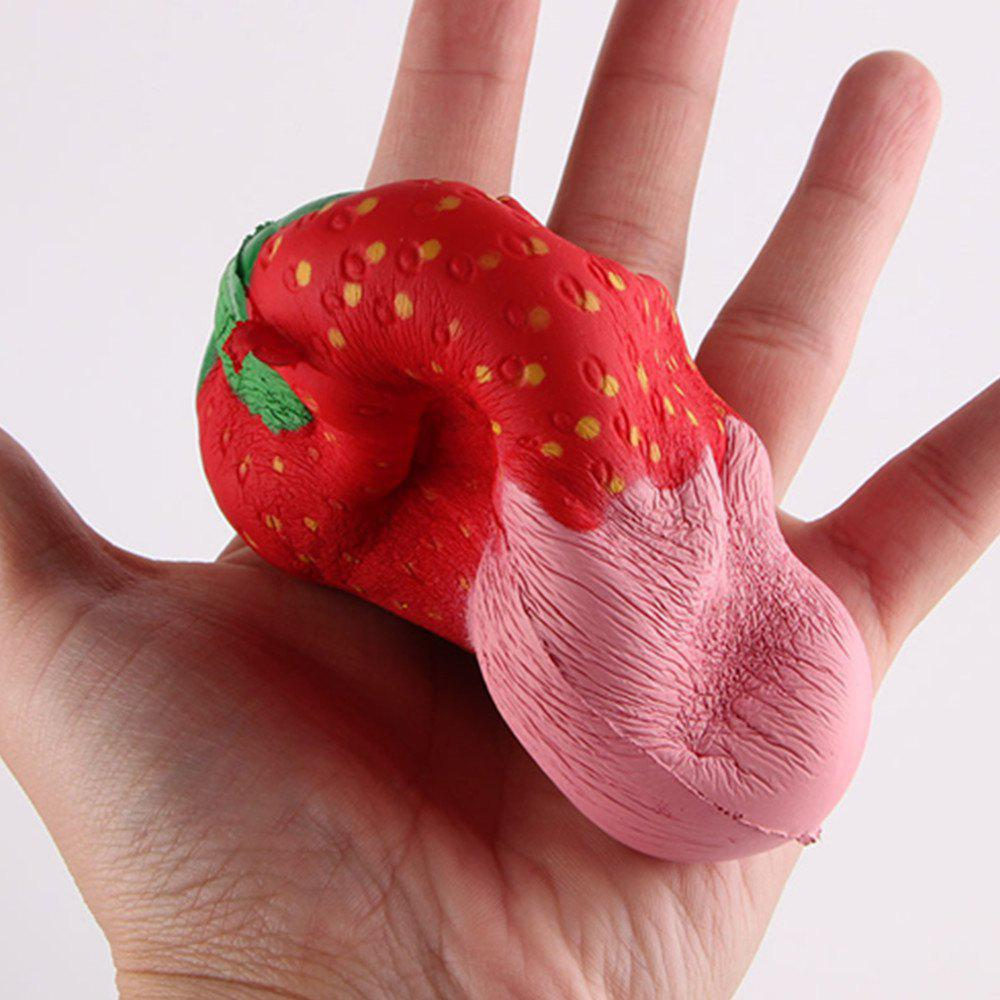 New Squeeze Stretch Squishy Strawberry Fruit Scented Slow Rising Gift Toy for Kids - PINK