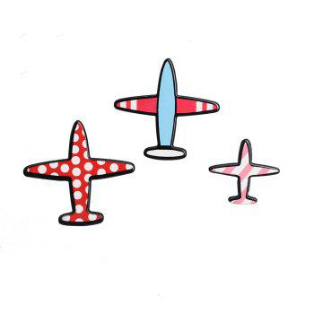 Cartoon Set Airplane Airplane Fashion Brooches Brooch Pins for Girls Backpack Flap Collar Bag Clothing Badge Button - COLORMIX COLORMIX