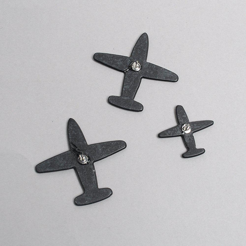 Cartoon Set Airplane Airplane Fashion Brooches Brooch Pins for Girls Backpack Flap Collar Bag Clothing Badge Button - COLORMIX