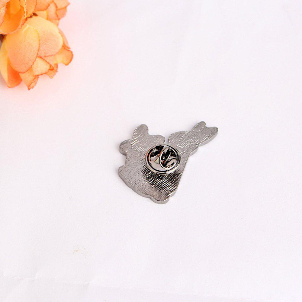 White Rabbits Brooch Enamel Funny Animal Metal Button Pins Bag Jacket Badge Pin Fashion Jewelry - WHITE