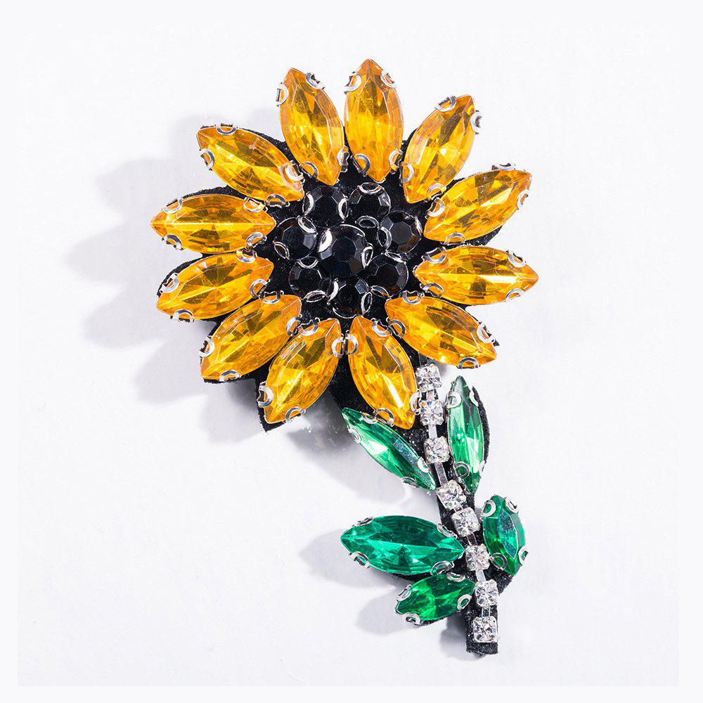 Fashion Handmade Shiny Crystal Flower Brooch Brooches Colorful Summer Style For Women Party Jewelry - DAISY