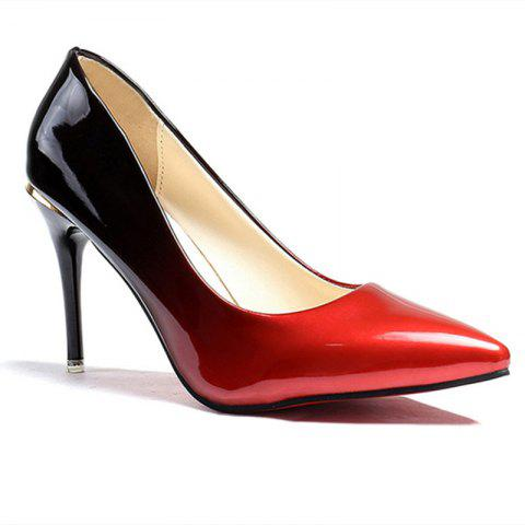 Pointed Head High Heels Shoes - RED 36