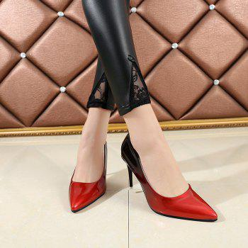 Pointed Head High Heels Shoes - RED 40