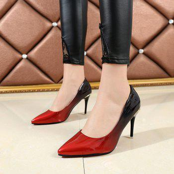 Pointed Head High Heels Shoes - RED 38