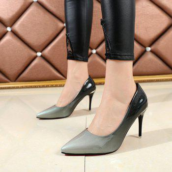 Pointed Head High Heels Shoes - GRAY 39