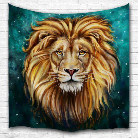 Green Lion King 3D Digital Printing Home Wall Hanging Nature Art Fabric Tapestry for Bedroom Living Room Decorations - multicolor W153CMXL130CM