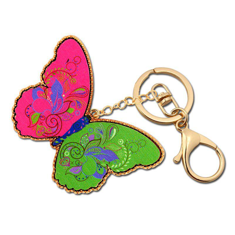 Fashion Acrylic Butterfly Key Chain Women Girls Decorative Key Chain Bag Charm Pendant Jewelry fashion women travel kit jewelry organizer makeup cosmetic bag