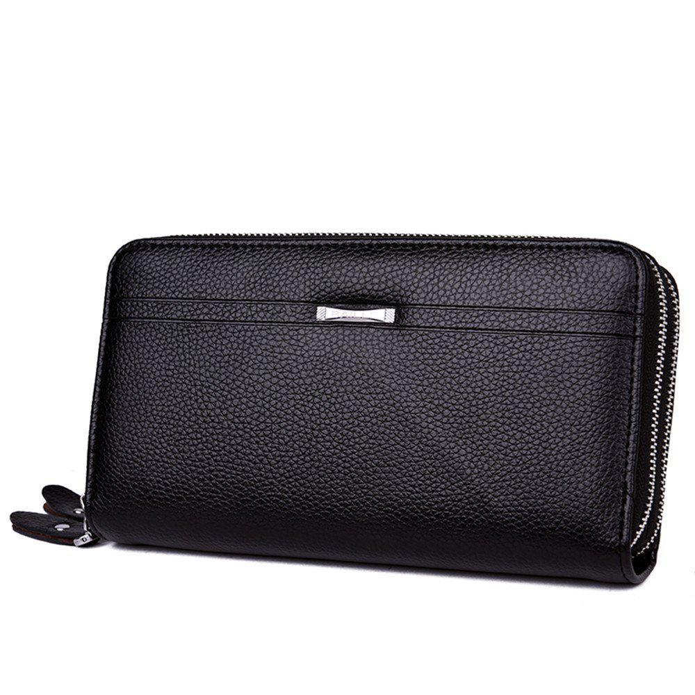 Men's business casual hand bag - BLACK