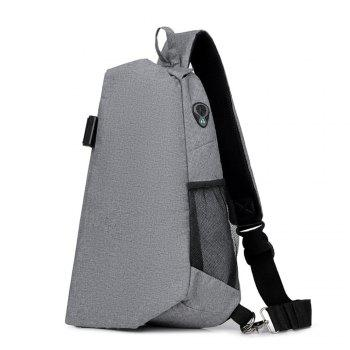 One shoulder inclined across the small chest package -  GRAY