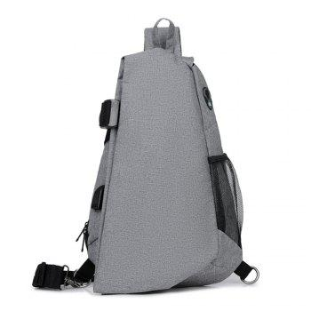 One shoulder inclined across the small chest package - GRAY GRAY