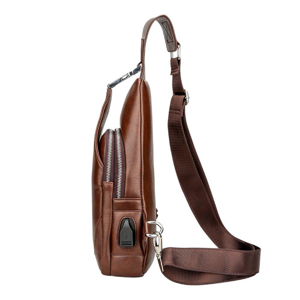 Fashion casual men chest package - BROWN