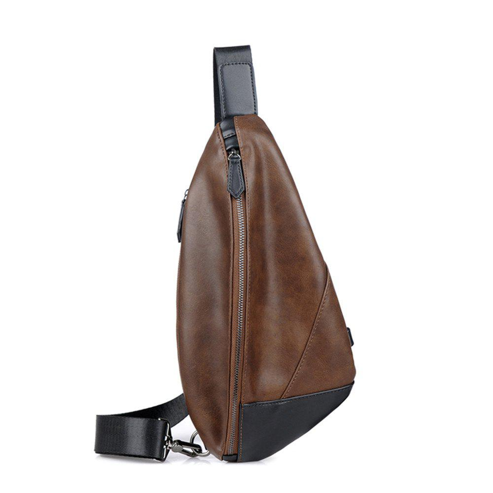 Single shoulder bag movement inclined shoulder bag - BROWN