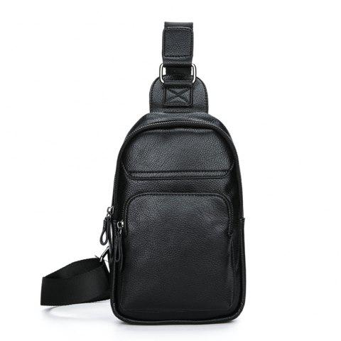 Man inclined across one shoulder chest package - BLACK