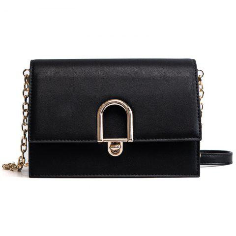 Simple Wild Fashion Handbag Shoulder Messenger Bag - BLACK