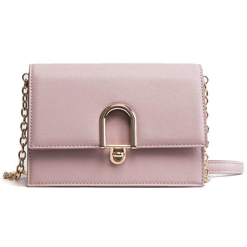 Simple Wild Fashion Handbag Shoulder Messenger Bag - PINK