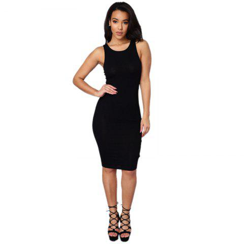 Daifansen T-shirt sans manches Sexy Halter Dress - Noir S