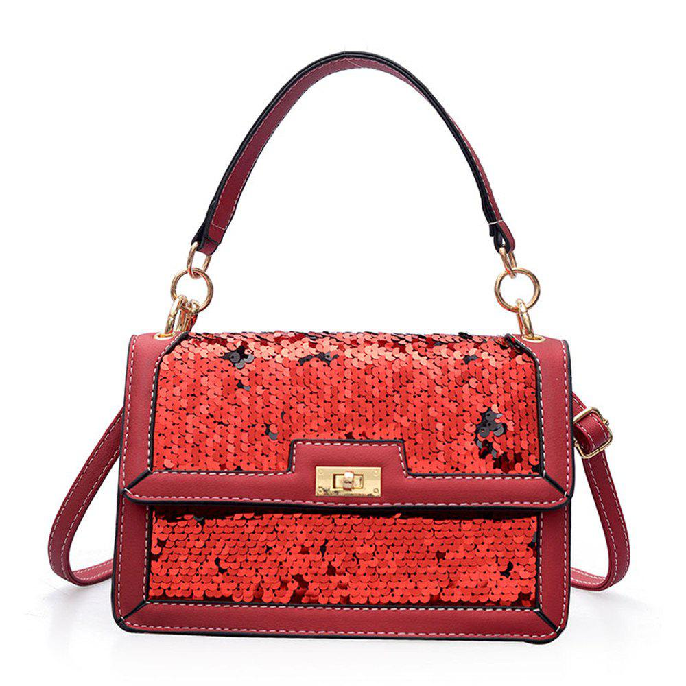 Shoulder Strap Messenger Female Sequined Shoulder Shoulder Bag Small - RED