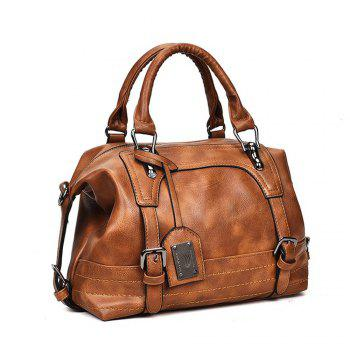 Europe and The United States Pillow Female Messenger Hand Shoulder Atmospheric Fashion Handbags Boston Bag - LIGHT BROWN
