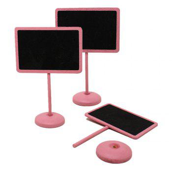 171019 Creative Blackboard Pink Wooden Crafts Decorative Ornaments Home Furnishing (Pack of 10) - PINK