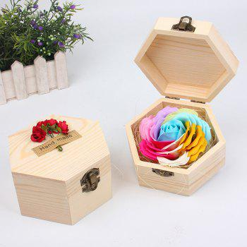 Soap Flower Sweet Solid Artificial Rose Flower With Wooden Box - BLUEL BLUEL