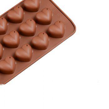 15 Grid Heart-Shaped Silicone Chocolate Mold Silicone Baking Mold - MOCHA